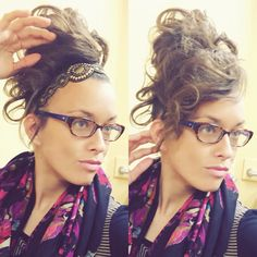 Give your front section a break. Let some of your bun be your front curls.  (Curled with 1.5 In Curling Iron) Updo. Long Hair. Apostolic.