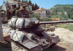tank fielded by Croatian Army during the Croatian War of Independence Military Photos, Military History, T 34, Trail Of Tears, Military Armor, Ww2 Tanks, War Photography, Battle Tank, Armored Vehicles