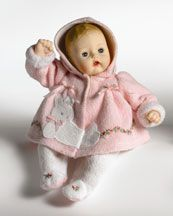 Madame Alexander Pink Bunny Huggums Doll Cute outfit for tiny tears Victorian Dolls, Antique Dolls, Victorian Dollhouse, Modern Dollhouse, Pretty Dolls, Beautiful Dolls, Doll Toys, Baby Dolls, Vintage Madame Alexander Dolls