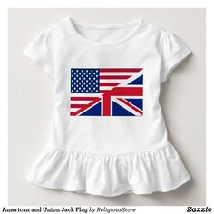 American and Union Jack Flag Toddler T-shirt