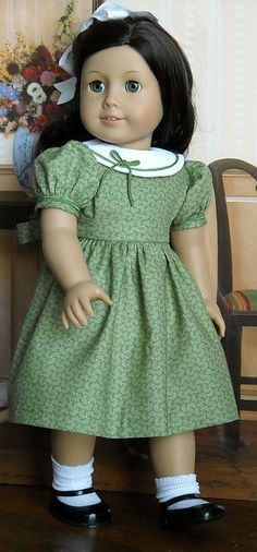 Pretty green dress for American Girl Dolls by Sugarloaf Doll Clothes, via Flickr
