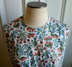 Vintage 60s ButtonBacked Floral Shirt  NOS  16 by PoplarStVintage, $22.00