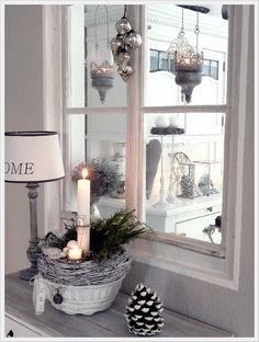 Fensterbank dekorieren die 31 besten bilder auf pinterest in 2018 weihnachtsdekoration - Zinkwanne weihnachtlich dekorieren ...