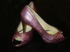 I have wanted to make glitter heels for a while. This is a nice tutorial from My Knot Couture.