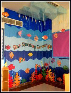 Under the Sea Reading Corner classroom display photo - Photo gallery - SparkleBox