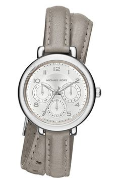 MICHAEL Michael Kors Michael Kors 'Kohen' Multifunction Leather Wrap Watch, 38mm available at #Nordstrom