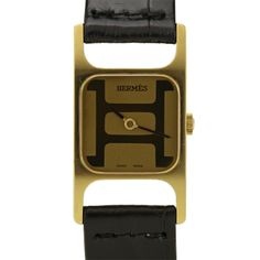 "18k yellow gold Hermes ""H"" watch from the 1970s #luxurywatch #Corum-swiss Corum Swiss Watchmakers watches #horlogerie @calibrelondon"