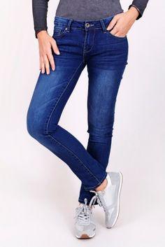 Dámské basic džíny s rovnými nohavicemi PAWS16 05blue Stuff To Buy 992c00a542