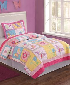 Another great find on #zulily! Bright Butterfly Quilt Set #zulilyfinds