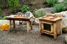 Outdoor Mud Kitchen Ideas for the Kids