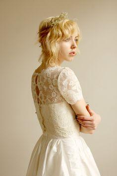 Elandra--2 Piece, Lace and Silk Wedding Dress. $895.00, via Etsy.