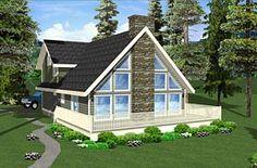 A-Frame House Plan 99962 Elevation