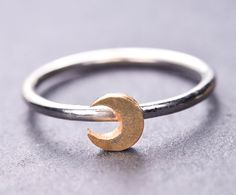 Moon ring sun ring star ring half moon ring by JubileJewel on Etsy, $35.00