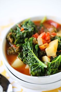 Tomato, Kale, and Potato Soup