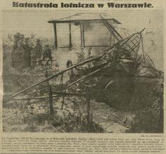 Tragiczny wypadek por. pil. Witolda Wize na samolocie SPAD 61