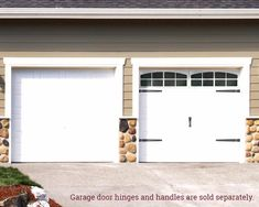 Garage door handles and hinges add sophistication to any garage door. Coach House Accents decorative garage door handles and hinges are easy to install! Faux Garage Door Windows, Diy Garage Door, Garage Door Makeover, Garage Door Design, Windows And Doors, Garage Door Update, Garage Door Framing, Garage Walls, Diy Door