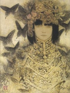 Japanese contemporary art インセクト・ゴシック by Masaaki Sasamoto Japanese Contemporary Art, Illustrations, Illustration Art, Japanese Illustration, Claudia Tremblay, Group Art, Guache, Japan Art, Tokyo Japan
