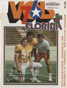 The Tennessee Football Programs: 1976 Football Program - UT vs Florida Ut Football, Tennessee Football, University Of Tennessee, Football Program, College Football, Football Posters, Neyland Stadium, University Programs, Go Vols