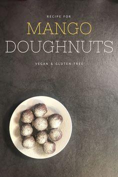 Vegan and gluten-free mango doughnuts 🍩 Doughnut Recipe Without Yeast, Gluten Free Diet, Gluten Free Recipes, Thursday, Wednesday, Wing Recipes, Cake Shop, Angel Wings, Doughnuts