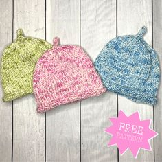 10 Easy Knit Baby Blankets for Beginners — Blog.NobleKnits Baby Hat Knitting Patterns Free, Baby Sweater Knitting Pattern, Knit Baby Sweaters, Baby Hats Knitting, Knitting For Kids, Baby Patterns, Free Knitting, Knitted Hats, Baby Knits
