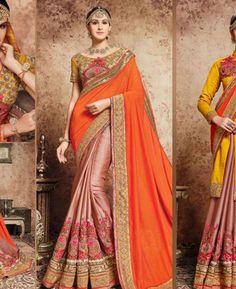 #hey @a1designerwear . Item code: ADF81375 . Buy Stunning Orange Georgette #Saree #onlineshopping with #worldwideshipping at  https://www.a1designerwear.com/stunning-orange-georgette-sarees-9   . #a1designerwear #a1designerwear . #instashop #worldwide #thankyou