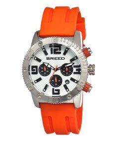 BREED Orange & Silver Agent Chronograph Watch by BREED #zulily #zulilyfinds