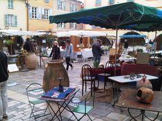 Village square in Valbonne, France