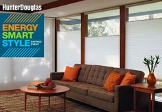 Hunter Douglas is offering rebates on it's more energy efficient shades from January 30 through April, 11, 2016.
