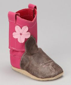 A little buckaroo has got to wear their best boots out on the town sometimes, and these all-leather corn-kickers are as sweet as can be. They're as soft as booties with a tender sole and hook and loop sides.