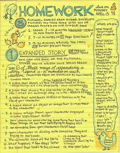 """Lynda Barry's Wonderfully Illustrated Syllabus & Homework Assignments from Her UW-Madison Class, """"The Unthinkable Mind"""" Lynda Barry, Blue Drawings, Tumblr Pages, Writing Exercises, How To Make Comics, Visual Diary, Writing A Book, Writing Comics, Writing Journals"""