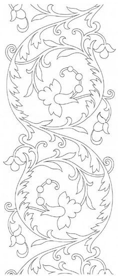 Hand Embroidery Pattern: Scroll Design Free Hand Embroidery Pattern from the site of Mary Corbet: Repeatable Scroll Design from Therese Dillmont.Free Hand Embroidery Pattern from the site of Mary Corbet: Repeatable Scroll Design from Therese Dillmont. Hungarian Embroidery, Embroidery Transfers, Embroidery Patterns Free, Learn Embroidery, Crewel Embroidery, Hand Embroidery Designs, Vintage Embroidery, Ribbon Embroidery, Cross Stitch Embroidery