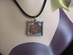Mixed Media Art Soldered Flower Necklace by stevenssteampunk