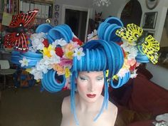 Think I'm going to use a similar technique for foamy's hair... just not quite as flamboyant! Amazing wig!