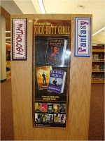 ReaderPants: The Library Genre-fication Project Genre Labels, Library Orientation, Dewey Decimal System, Library Books, Library Ideas, Library Lessons, Library Design, Genre Posters, Reading Incentives