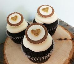 Woodland Heart Cupcake Topper Set (12) by SweetTalkCakes on Etsy