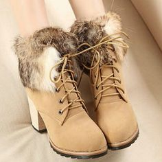 I just discovered this while shopping on Poshmark: New Chic Mix-matched Drawstring faux Fur heelBootNWT. Check it out! Price: $42 Size: 7, listed by bestsellerever