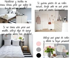 Gama de tonos. Dormitorio pequeño