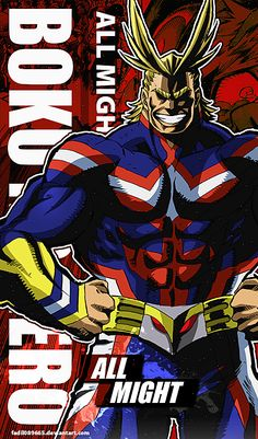 My Hero Academia Wallpapers Mobile : All Might by Fadil089665
