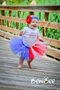 So many 4th of July outfits for girls. I could dress her patriotic for a month