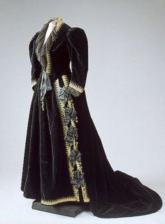 House of Worth Paris | House of Worth, Velvet Dress Trimmed with Gold Thread. Paris, 1880s ...