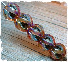 Gypsy Jewels - 5 Fluted Glass Artisan Boro Lampwork Beads