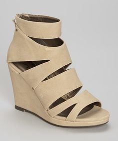 This Natural Allura Wedge Sandal by Michael Antonio is perfect! #zulilyfinds