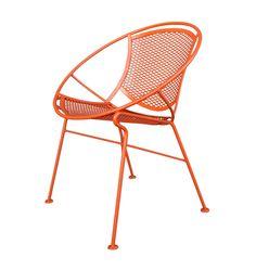 Set of Four Orange Salterini Hoop Chairs, circa 1955 image 2