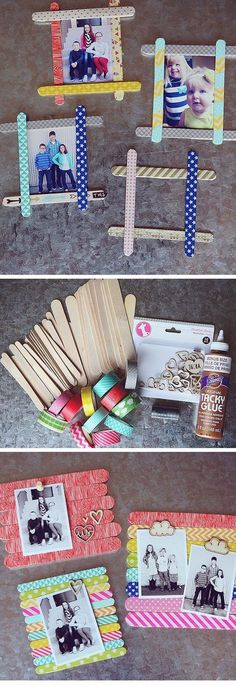 Popsicle Stick Photo Frames 18 DIY Fathers Day Gifts from Kids for Grandpa Easy Birthday Gifts for Dad from Kids Kids Crafts, Diy Mother's Day Crafts, Fathers Day Crafts, Craft Stick Crafts, Holiday Crafts, Christmas Diy, Craft Ideas, Decor Ideas, 31 Ideas
