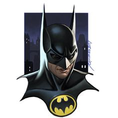 Keaton Batman by Joe Quinones Michael Keaton Batman, Batman Returns 1992, Batman Art, Comics Universe, Bat Family, Gotham City, Tim Burton, Dark Knight, Comic Art