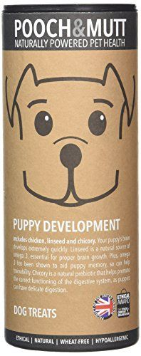 E ok. Pooch and Mutt Puppy Development Treats 125 g (Pack of 3)... https://www.amazon.co.uk/dp/B00BPSC75M/ref=cm_sw_r_pi_dp_x_AGzfzb4FCYHCC