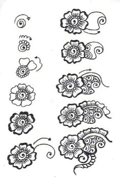 51 Ideas Doodle Art Zentangle Patterns Henna For 2019 Mehendi, Arte Mehndi, Mehndi Art, Henna Art, Mehndi Flower, Paisley Flower, Arabic Mehndi, Henna Mehndi, Henna Motive