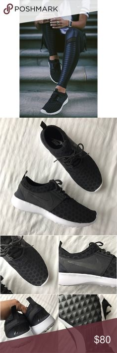 Nike Black Juvenate Sneakers •Black Juvenate sneakers from Nike. Extremely lighweight, flexible and breathable.  •Women's size 8, true to size.  •New in box (no lid).  •NO TRADES/HOLDS/PAYPAL/MERC/VINTED/NONSENSE. Nike Shoes Sneakers