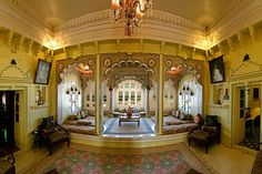 Deogarh Mahal - Luxury Heritage Hotel in Rajasthan Heritage Hotel, Mansion Interior, Indian Architecture, North India, Beautiful Castles, Buckingham Palace, Palaces, Rajasthan India, Forts
