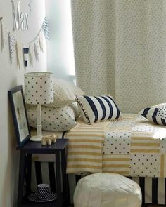 Butter yellow and navy . perfect together! Perfect Together, Boy Room, Blue Gold, Mustard, Butter, Rooms, Child, Throw Pillows, Navy